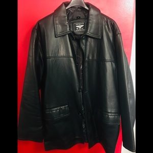 NEW- REPORTAGE Italy's black men's leather jacket